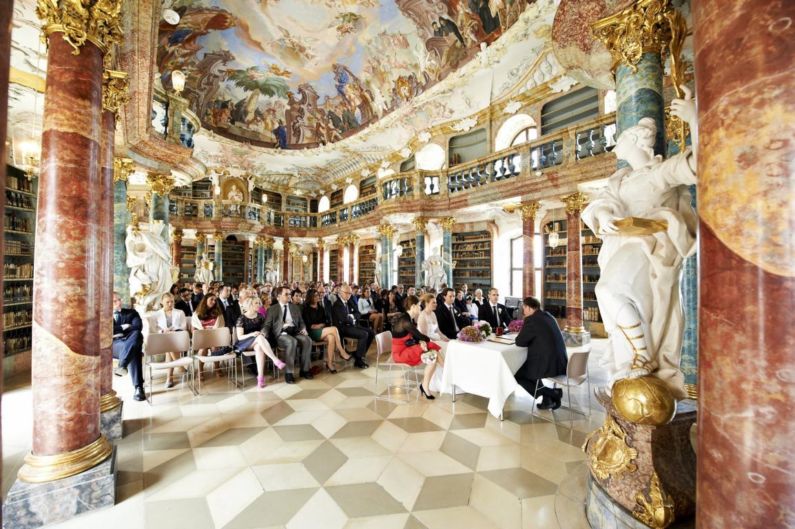 Wiblingen bei Ulm: Bibliothekssaal des Klosters