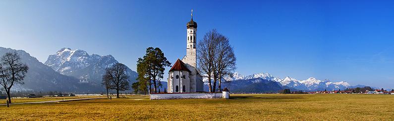 Die Kirche St. Coloman bei Schwangau in Schwaben