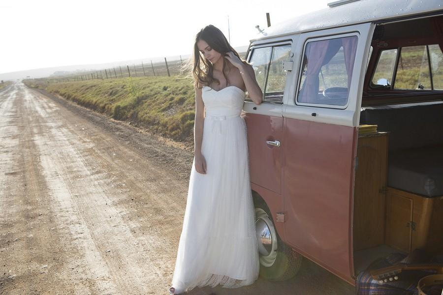 Das Brautkleid Hermes von Rembo Styling im Vintage Stil.