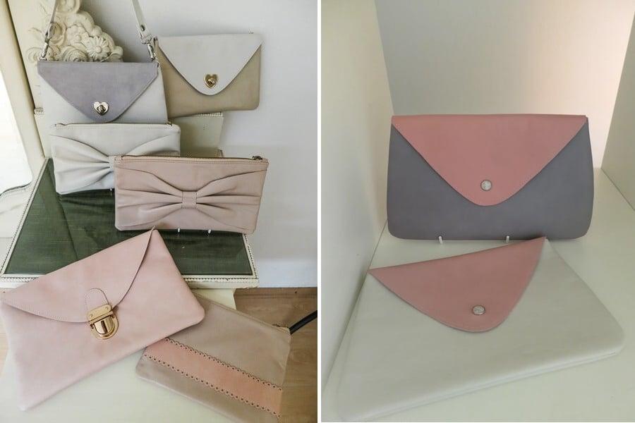Im Atelier von Lara Raithel alias Lille Mus in München. Lille Mus steht für handgefertigte Brauttaschen und Clutches.