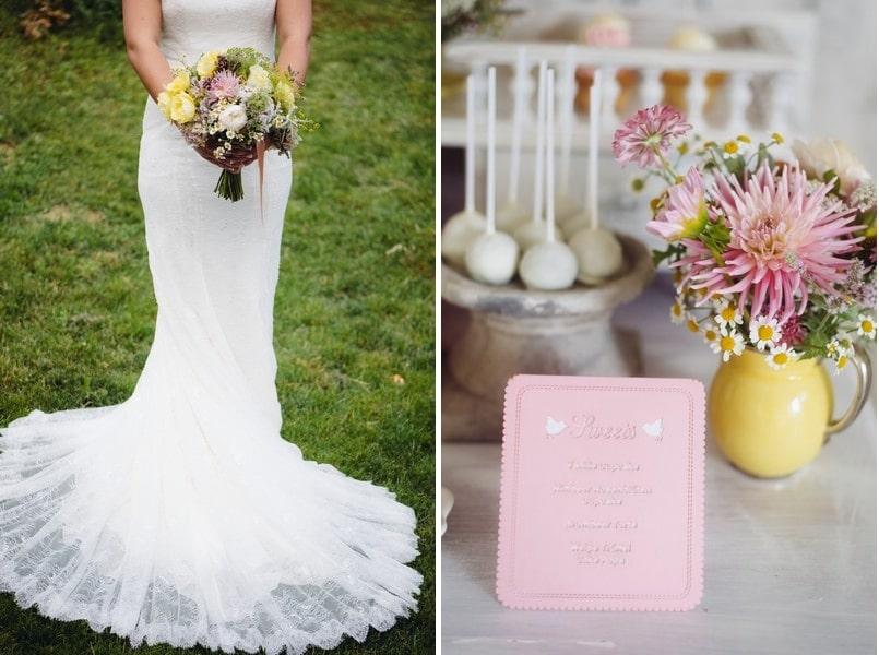 Eine l ndliche hochzeitsinspiration im vintage stil for Hochzeitstafel deko