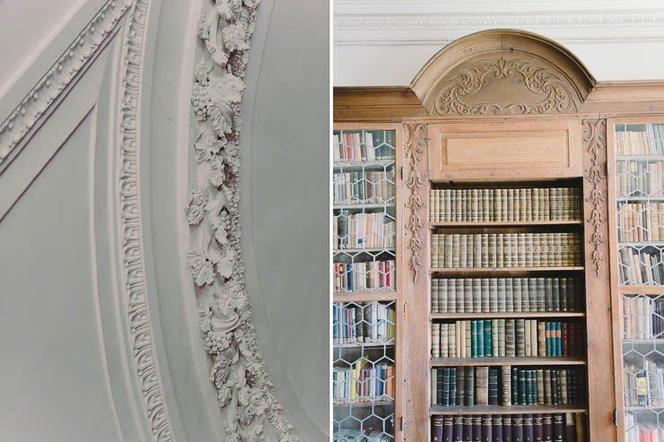 Die Klosterbibliothek von Kloster Holzen wird für standesamtliche Trauungen genutzt.