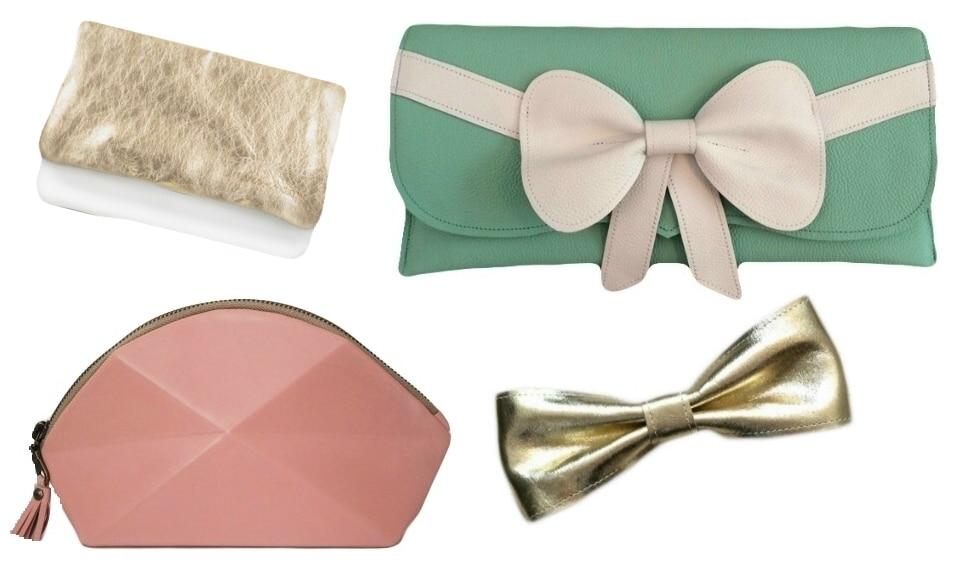 Leder-hochzeit-braut-clutch-gold-rosa-mint-weiß