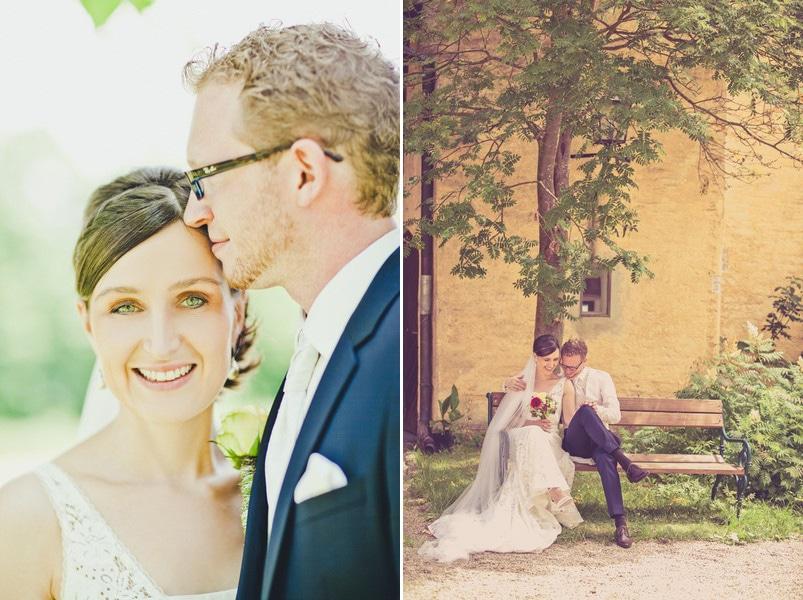 Portraits von BRaut und Bräutigam auf dem Irghof. Foto: Stefanie Danner.
