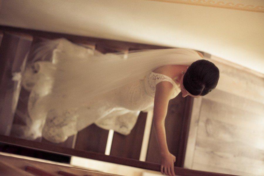 Braut von oben. Foto: Stefanie Danner.