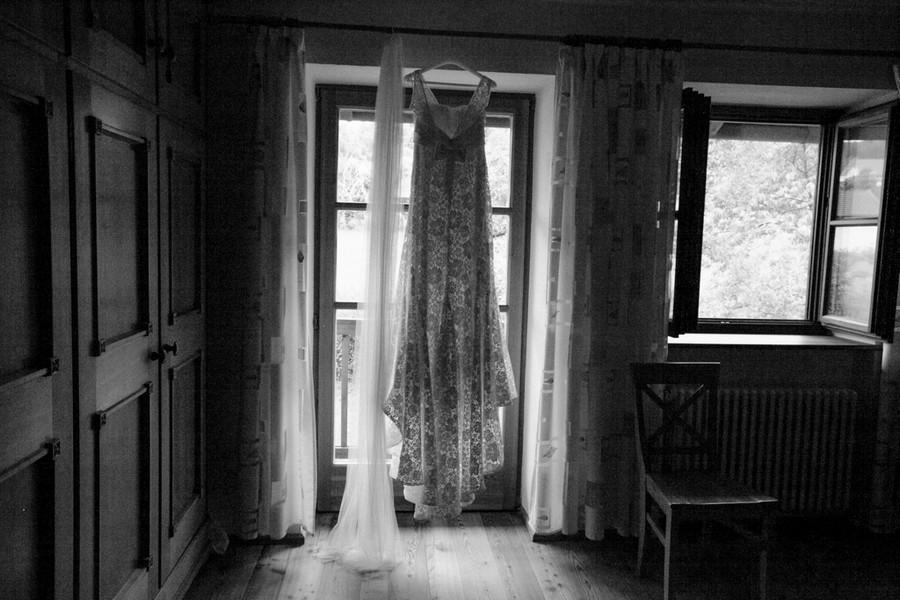 Das Vintage-Brautkleid. Foto: Stefanie Danner.