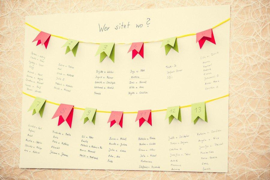 Ein DIY-Tischplan für die Hochzeit zum einfach selbermachen.