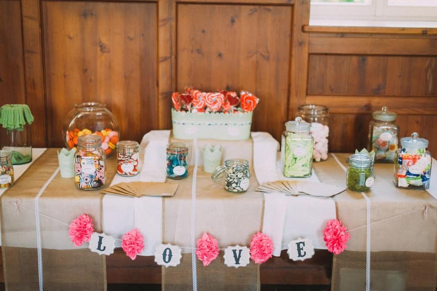 Eine Hochzeit in den Farben Türkis und Weiß in Kloster Holzen. Candybar