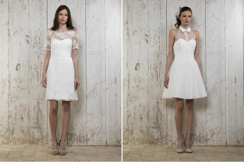 Die schönsten kurzen Brautkleider der Saison 2015 - hier: Lambert Créations.