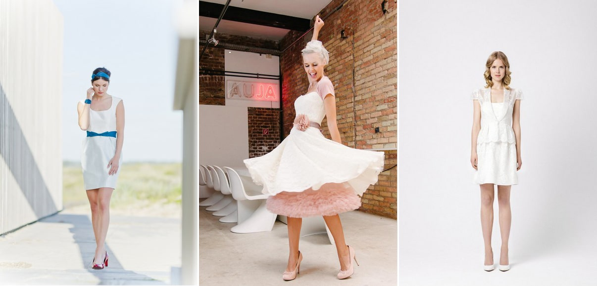 Knapp und sexy: Die schönsten kurzen Brautkleider der Saison 2015