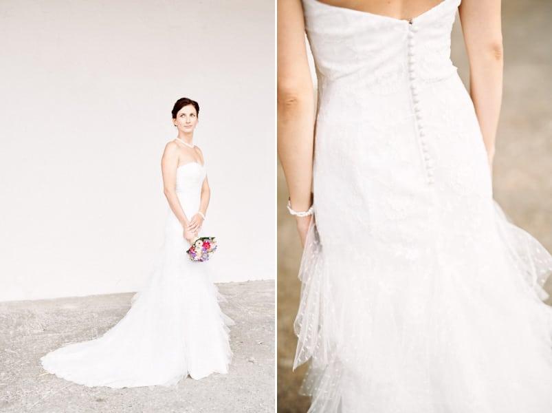 Brautkleid von Cymbeline. Gesehen bei einer Hochzeit auf Gut Thurnsberg.