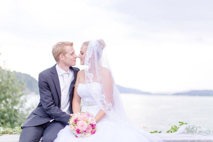 Traumhafter Brautschleier und Brautkleid von Ladybird, gekauft im Brautsalon Klagenfurt