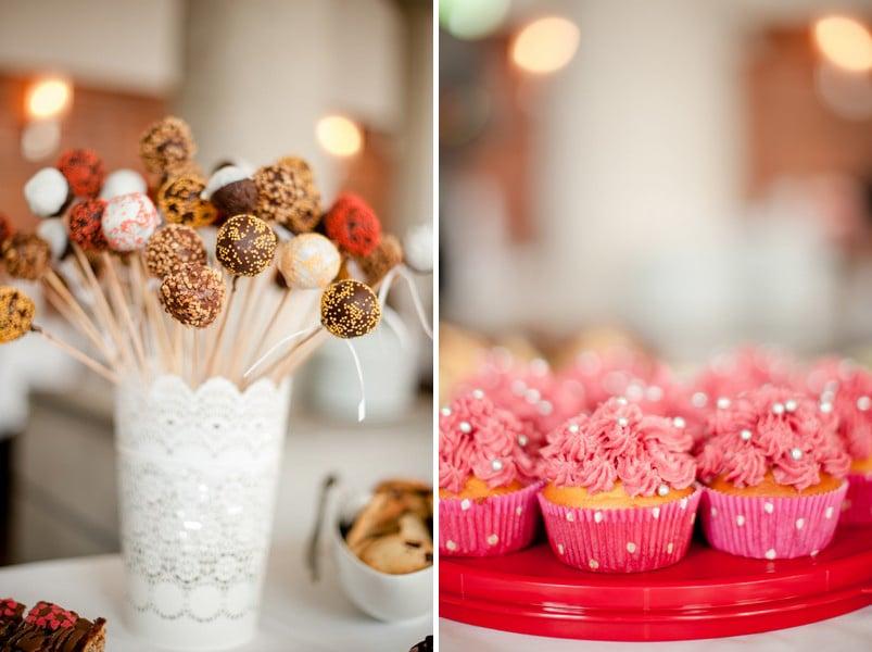 Cake-Pops für die Candybar einer Hochzeit.