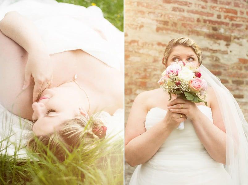 Heiraten in Kleidergröße XXL – mit Kräuterdeko und altem Geschirr