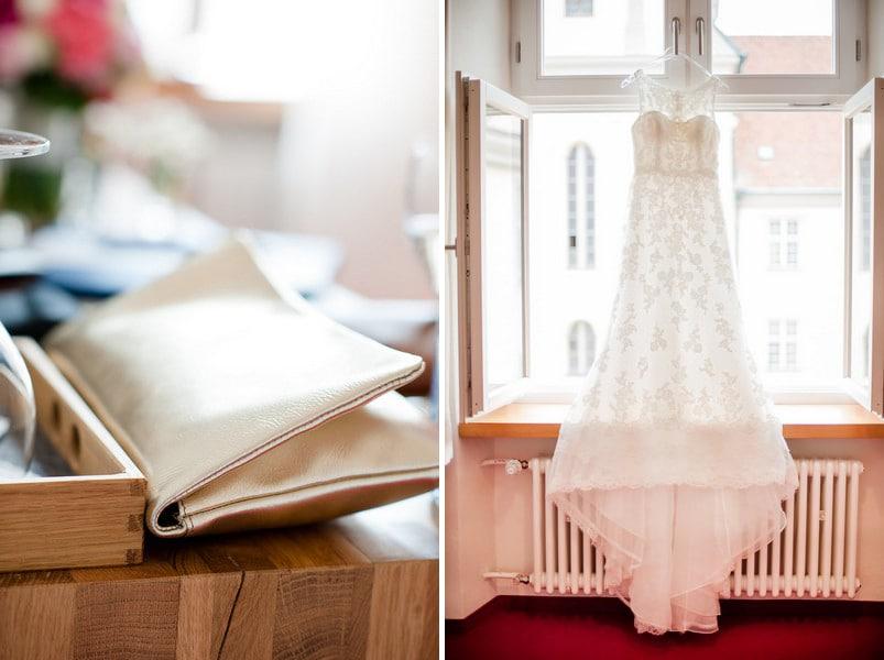 Brautkleid im Vintage-Stil mit Spitze und Schleppe von La Sposa White One.
