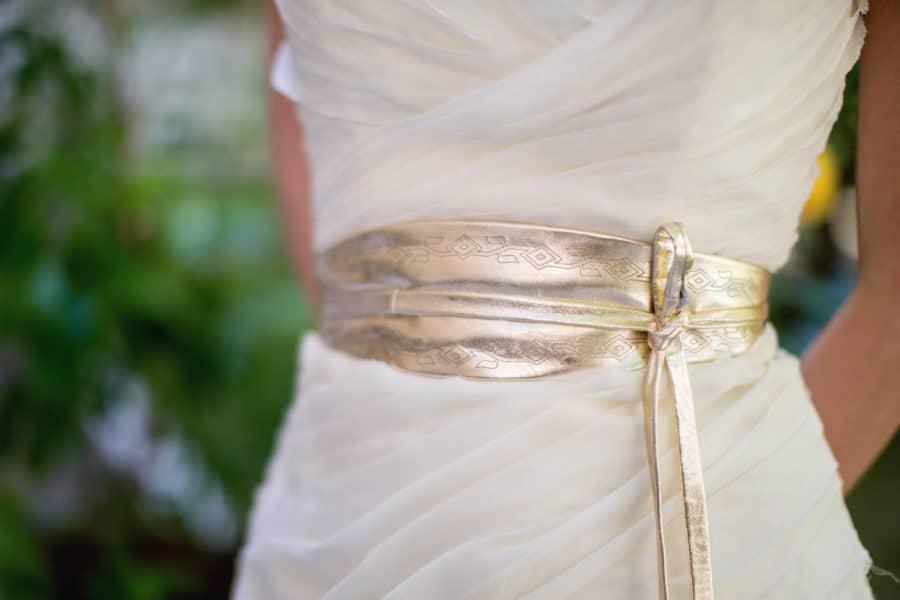 Brautgürtel in Gold Ethno von Felicita