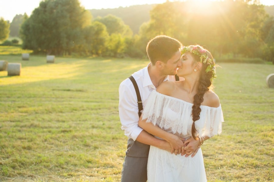 Romantisches Licht beim Boho-Style-Shoot