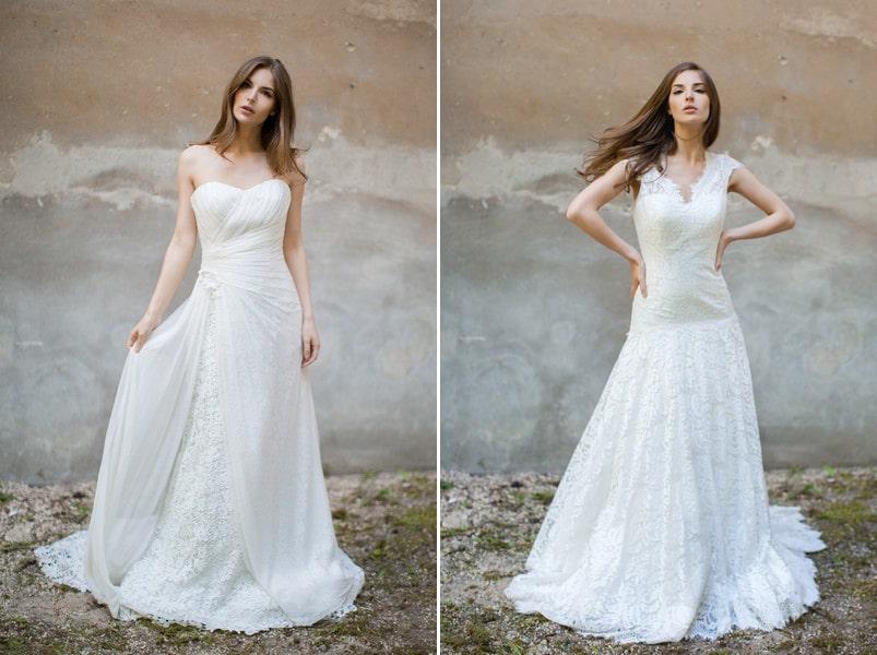Brautkleider Taimi und Hilla von Felicita.