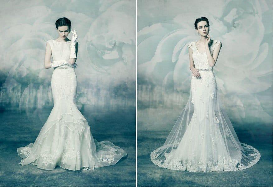 Die Brautkleider Agate und Coral von Annasul Y