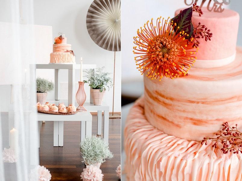inspiration eine winterhochzeit in coralle orange und puder. Black Bedroom Furniture Sets. Home Design Ideas