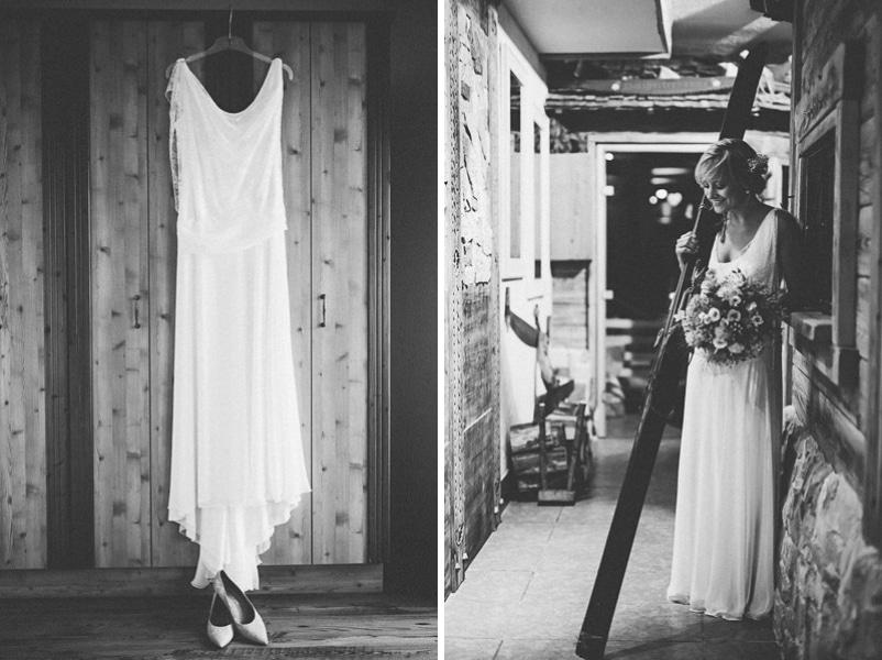 Boho-Brautkleid für die Alm