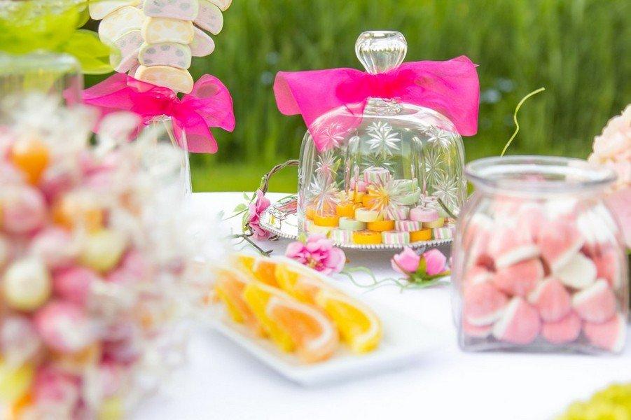 Candybar für eine Hochzeit in bunt
