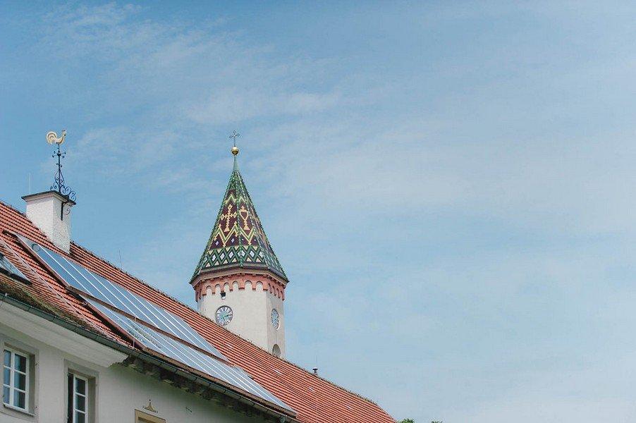 Die Kirche von Schloss Illereichen bei Ulm für Hochzeiten.