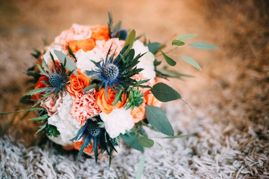 Budgetfreundliche Vintage Hochzeit In Blau Und Orange
