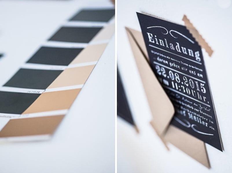 Hochzeitseinladung im Tafel-Kreide-Stil in der Special Edition von Farbgold München.