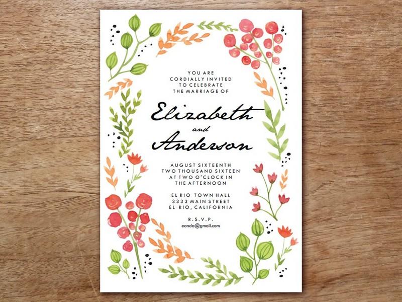 Test Hochzeits Einladungen Selber Drucken