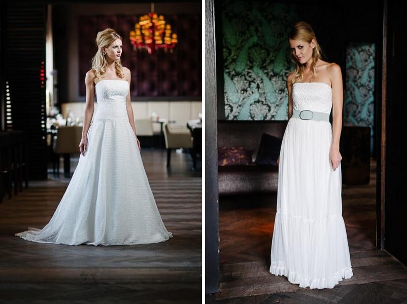 Die Brautkleider Bea und Flora von küssdiebraut