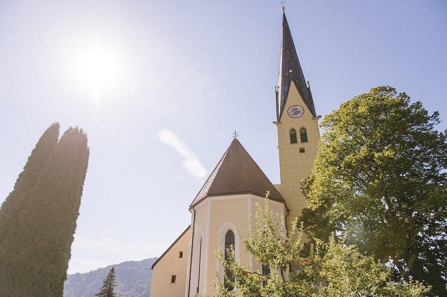 Die Kirche St. Laurentius in Rottach-Egern