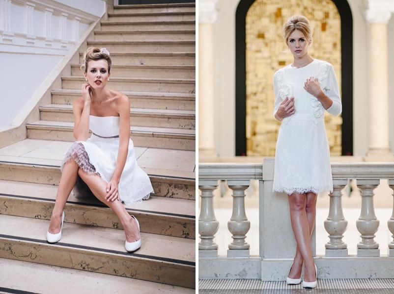 DIe kurzen Brautkleider Katy und Caro von küssdiebraut