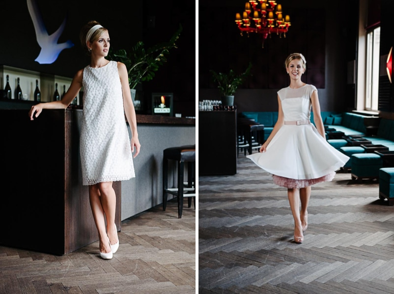 DIe kurzen Brautkleider Lola und Emmie von küssdiebraut