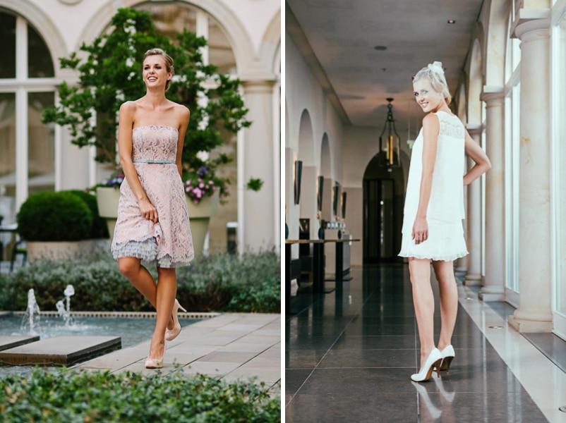 DIe kurzen Brautkleider Meggy und Juliette von küssdiebraut