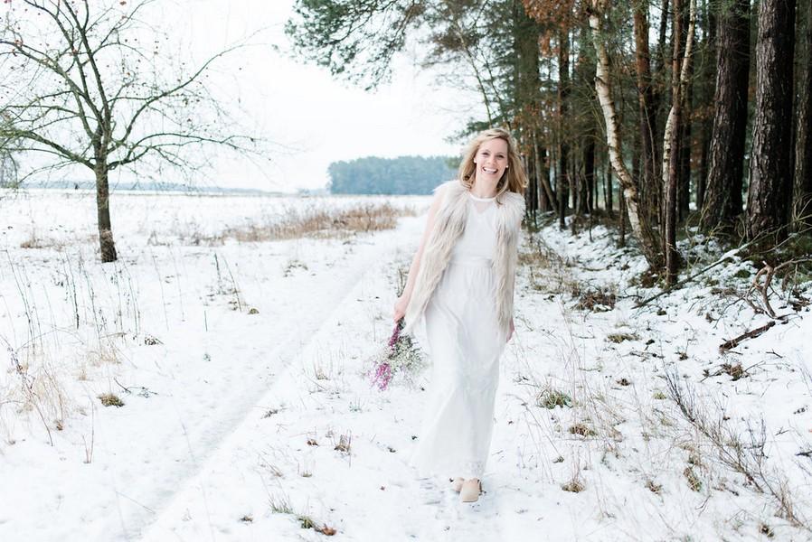 Ideen für Hochzeitsfotos im Winter
