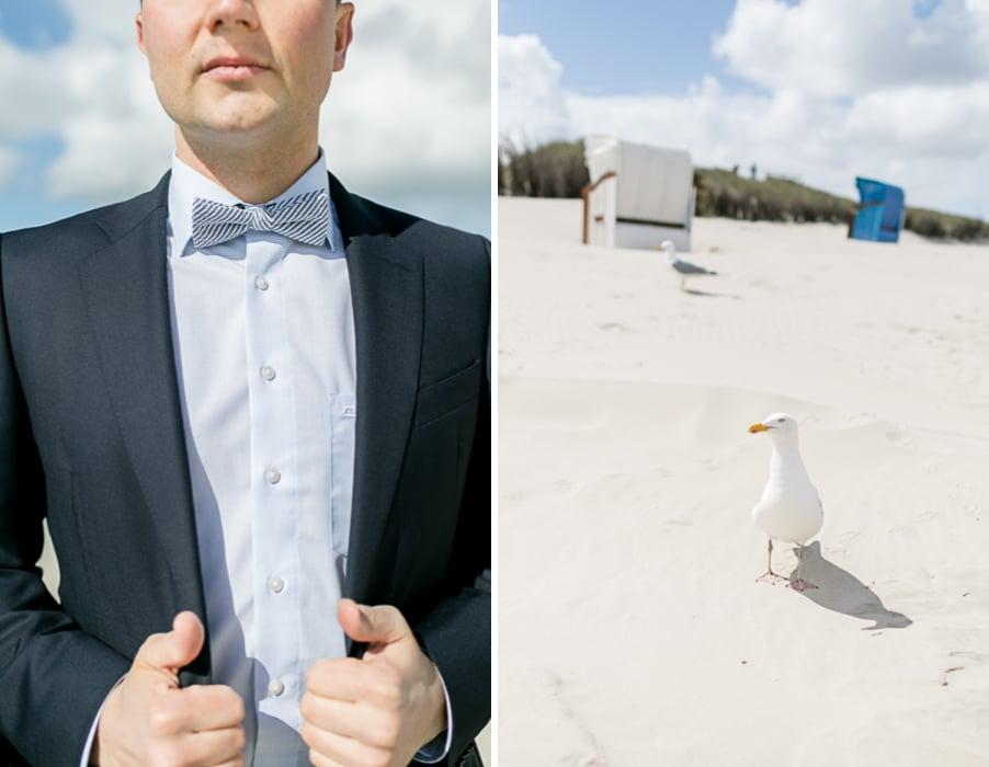 Maritime Fliege für einen Bräutigam