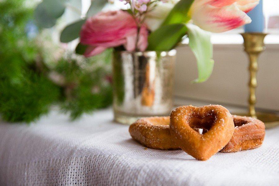 Donutherzen für eine Hochzeit