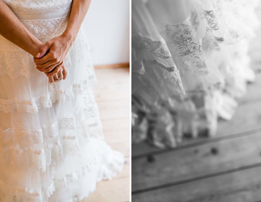 Gypsy-Brautkleid in mehreren Spitzenlagen von La Sposa