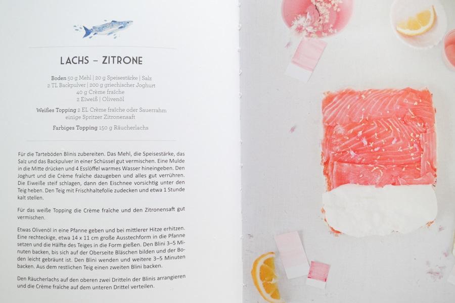 Lachs-Tartes aus dem Buch Regenbogentartes