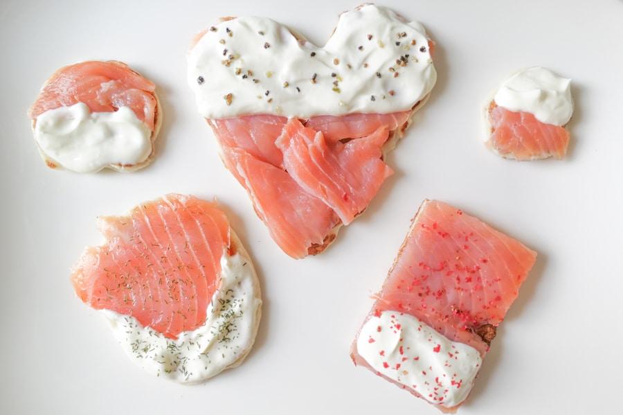 Süße Idee für herzhafte Häppchen mit Lachs zum Sektempfang bei einer Hochzeit