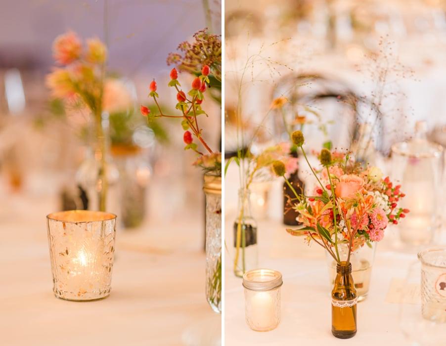 Tischdeko bei einer Gypsy-Hochzeit