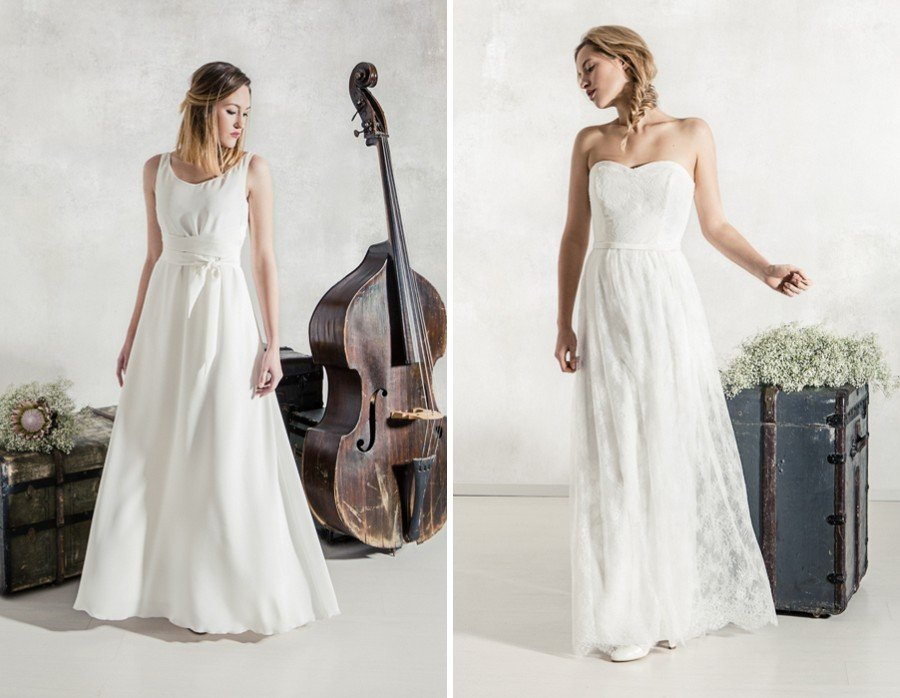 Die Brautkleider Adele und Allette von La Robe Marie