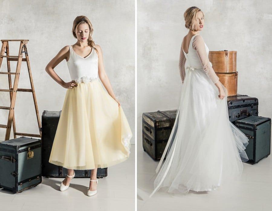 Die Brautkleider Eleonore und Bernadette von La Robe Marie