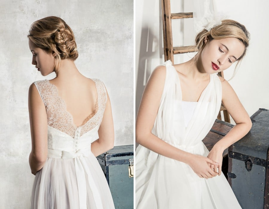 Die Brautkleider Eloise und Manon von La Robe Marie