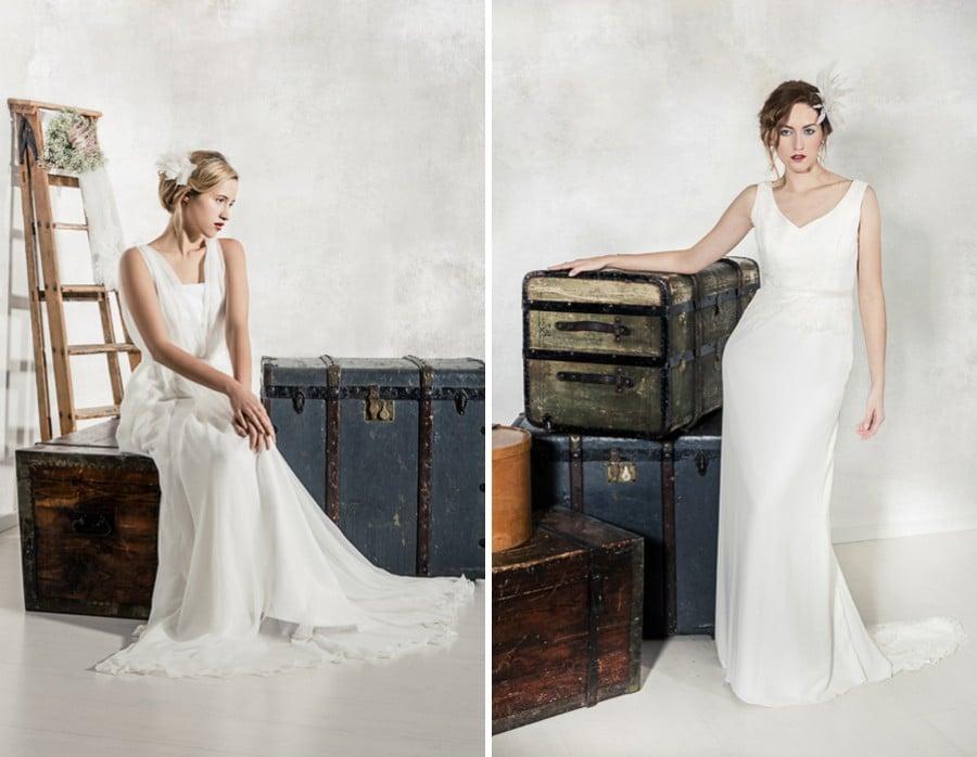 Die Brautkleider Manon und Michelle von La Robe Marie