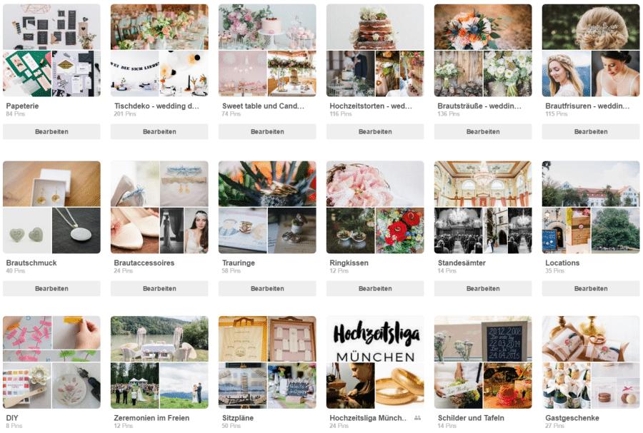 Pinterest Pinnwände von Hochzeitsgezwitscher