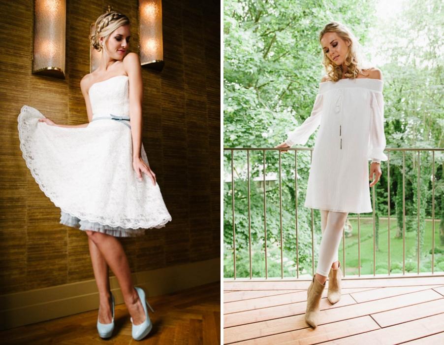 Brautkleider Betty und Tini von Küssdiebraut