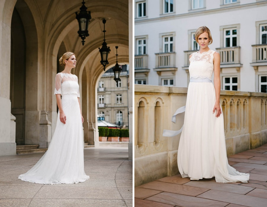 Brautkleider Vio und Faye von Küssdiebraut