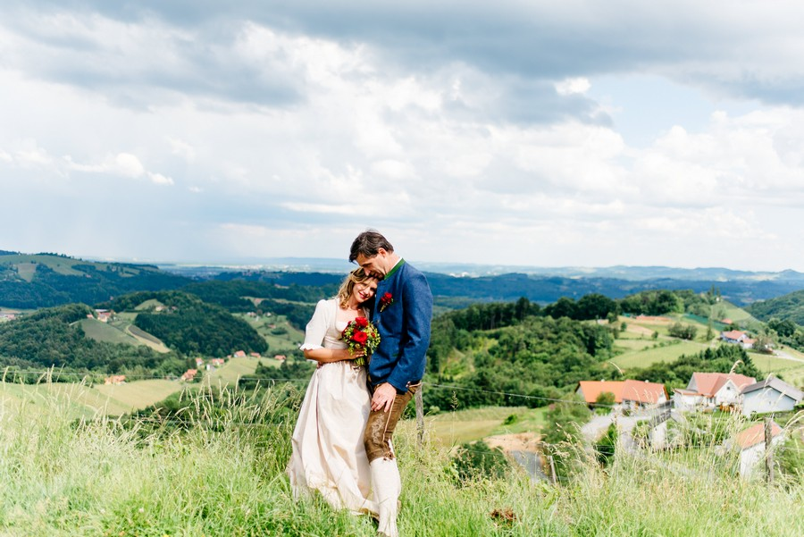 Portrait von Braut und Bräutigam von Monika Schweighardt